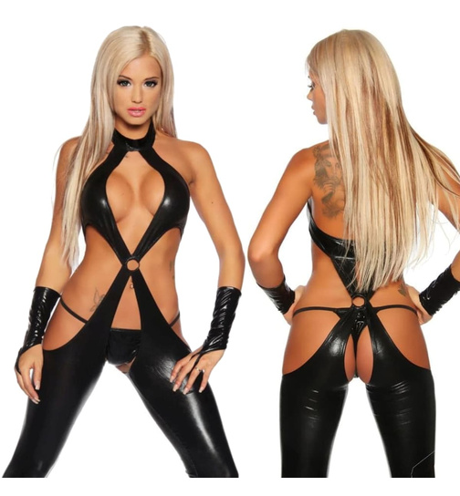 Wetlook-Overall Schwarz XS