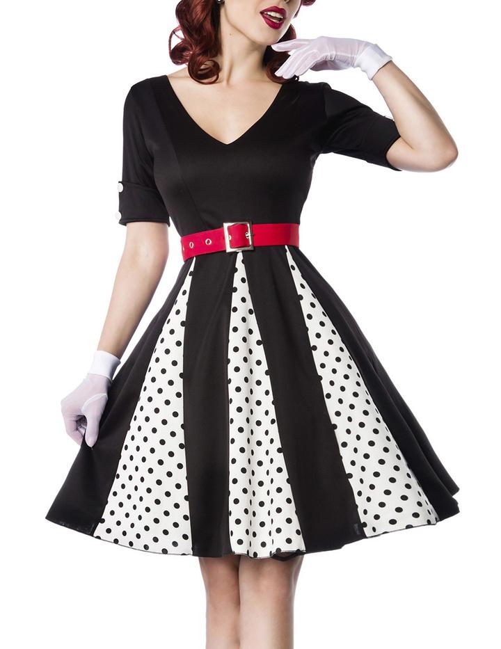 Godet-Kleid Weiß/Schwarz/Rot 3XL - KeiJo24.de - Kostüme ...