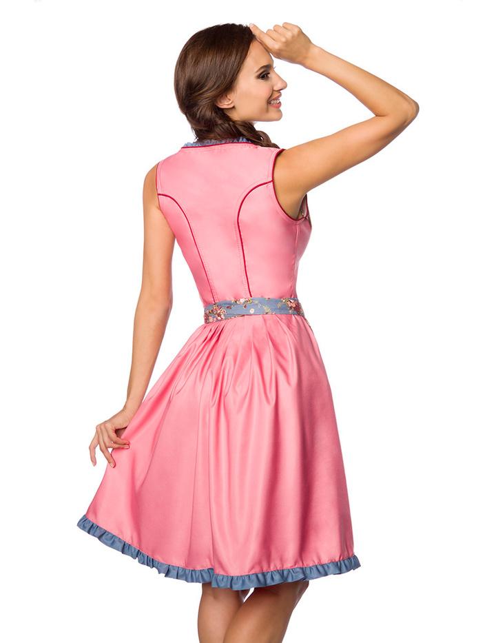 blumiges dirndl mit denim rosa blau m 62 90 keijo24. Black Bedroom Furniture Sets. Home Design Ideas