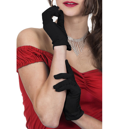Beautys Love Satin-Handschuhe schwarz