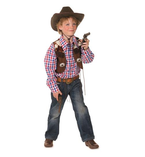 cowboy kost m blau rot braun 152 kost me fashion lif 31 90. Black Bedroom Furniture Sets. Home Design Ideas
