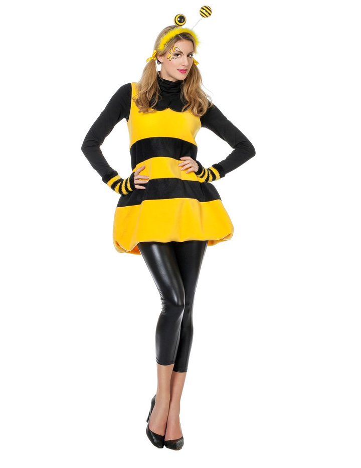 biene kost m damenkost me bienenkost m bienen damen outfit karneval fasching ebay. Black Bedroom Furniture Sets. Home Design Ideas