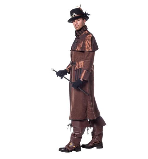 Steampunk Kostüm Herren Viktorianisch Retro Jacke Mechanisch