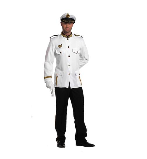 Matrose Matrosenkostüm Shirt Marine Seefahrer Seemann Navy Herren Meer Karneval