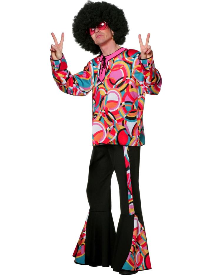 Wilbers & Wilbers Schlaghose 70er 80er Hippie Disco Flower Power Schlager Schlagermove Hose Herren Schwarz Schwarz