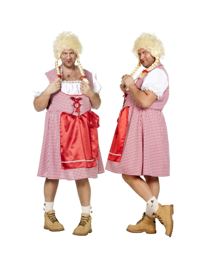 Dirndl Kleid für Herren in Rot/Weiß | KeiJo24.de - KeiJo24 ...