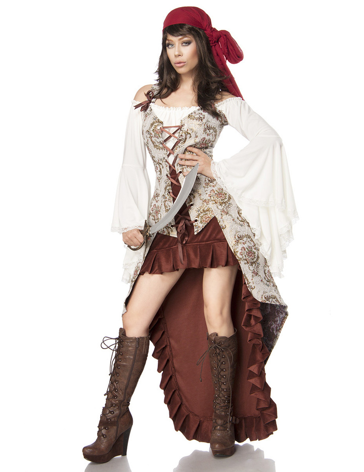 mask paradise luxus piratenbraut pirat piratin kost m. Black Bedroom Furniture Sets. Home Design Ideas