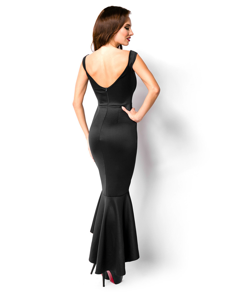 elegantes abendkleid in schwarz in den gr en s xxl. Black Bedroom Furniture Sets. Home Design Ideas
