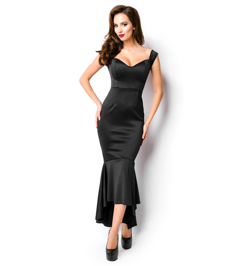 Elegantes Abendkleid in Schwarz, in den Größen S-XXL - KeiJo24.de ...