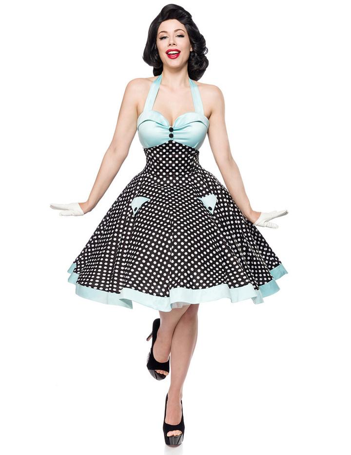 50s Vintage Swing Kleid Schwarz/Weiß/Blau XXL - KeiJo24.de ...