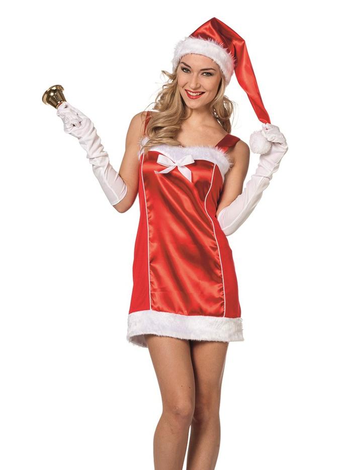 sexy weihnachtsfrau kost m mit m tze in rot wei keijo24. Black Bedroom Furniture Sets. Home Design Ideas