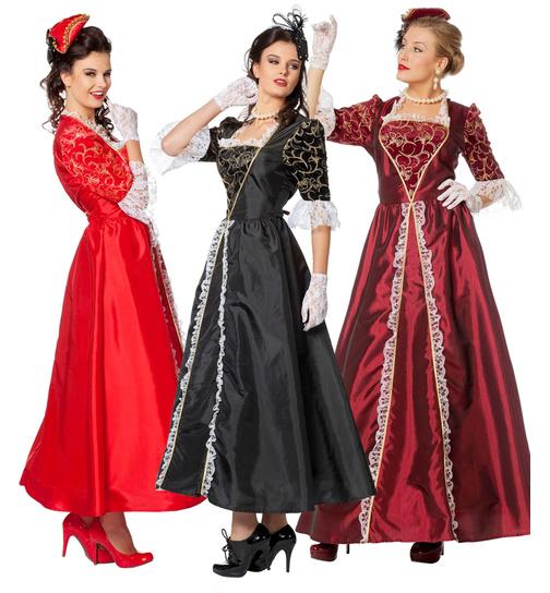barock kleid mit korsett damen