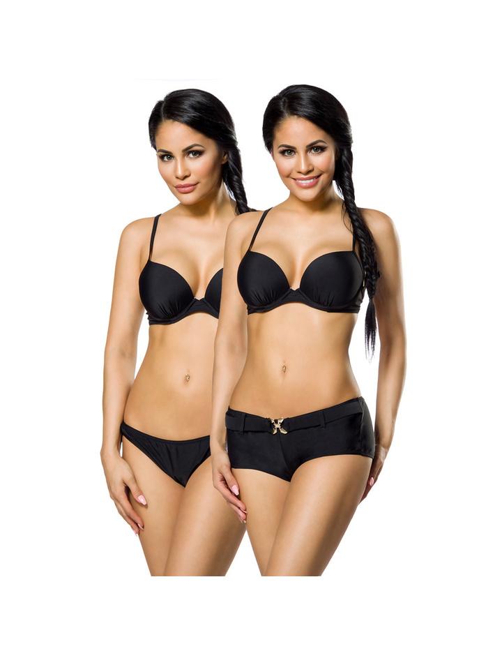 push up bikini set in schwarz wei t rkis in den gr en. Black Bedroom Furniture Sets. Home Design Ideas