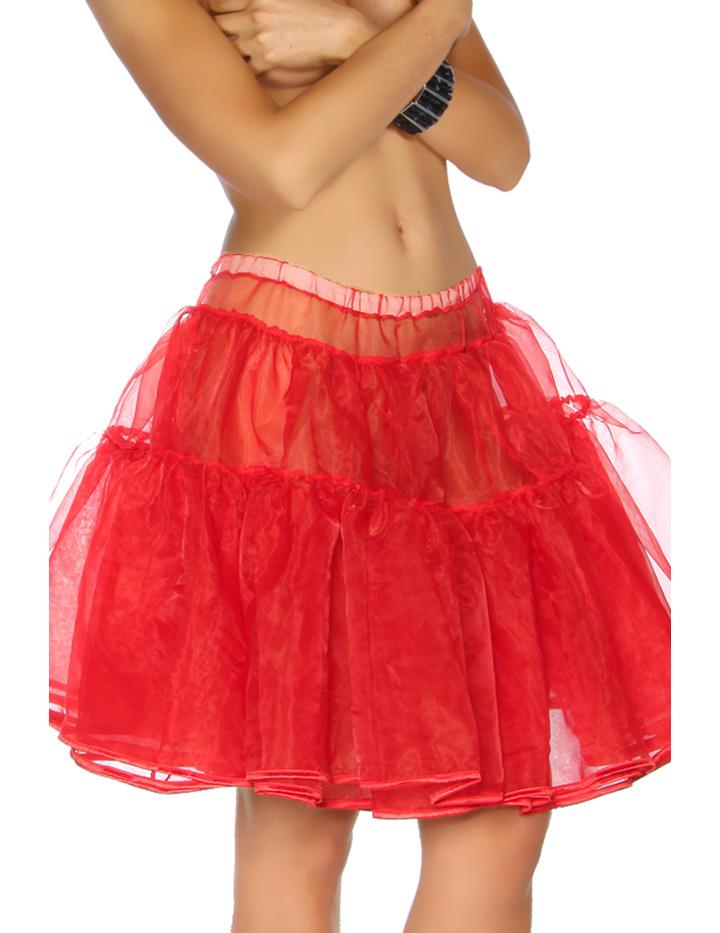 Petticoat Rock aus Organza Rot XS-M - KeiJo24.de - Kostüme