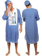 Nachthemd Kostüm Herren Mittelalter Schlafanzug Schlafmütze Herrenkostüm